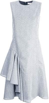 ADEAM forml midi dress with side ruffle