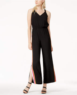 Bar III Varsity-Stripe Jumpsuit, Created for Macy's