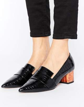 ASOS SILENCE Heeled Loafers $58 thestylecure.com