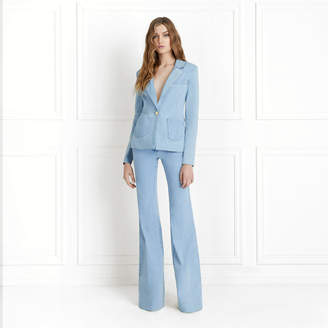 Rachel Zoe Shannon Light Denim Blazer