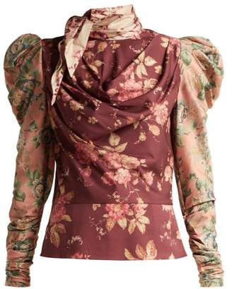 Zimmermann Tempest Floral Print Silk Blend Twill Blouse - Womens - Multi