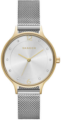 Skagen Women's Anita Two-Tone Stainless Steel Mesh Bracelet Watch 30mm SKW2340