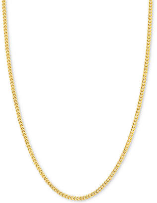 "Macy's 24"" Franco Chain Necklace (1-7/8mm) in 14k Gold"