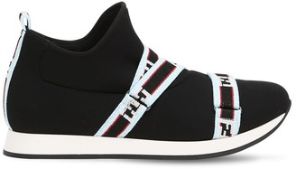 Fendi Neoprene Slip-On Sneakers