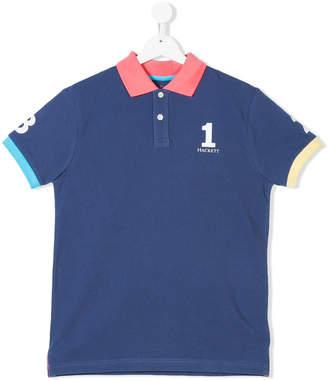 Hackett Kids Teen numbers print polo shirt