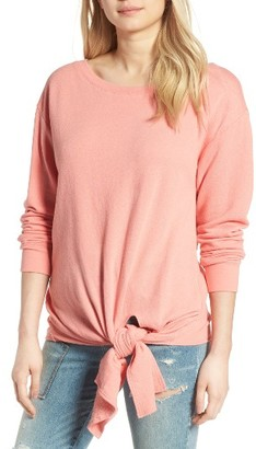 Women's Hinge Tie Front Pullover $69 thestylecure.com