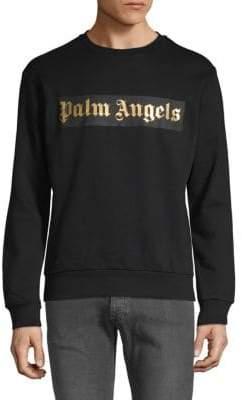 Palm Angels Metallic Logo Sweatshirt