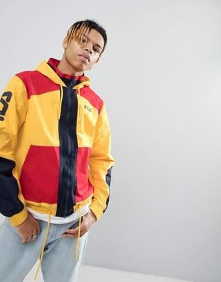 Fila Black Line Earl Block Zip Jacket In Yellow