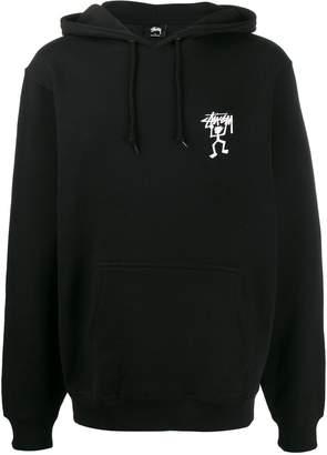 Stussy Warrior Man printed hoody