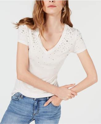 INC International Concepts I.n.c. Petite Embellished T-Shirt
