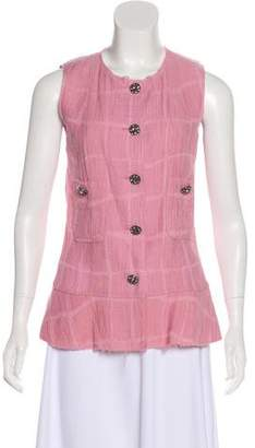 Chanel Matelassé Sleeveless Top