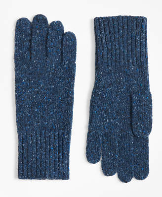 Brooks Brothers Merino Wool Donegal Knit Gloves