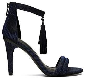 Kenneth Cole Reaction Women's Smash Light Two Piece Open Toe Stiletto Tassel Detail Dress Sandal