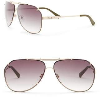 GUESS 65mm Aviator Sunglasses