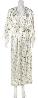 Christian Dior Floral Satin Robe