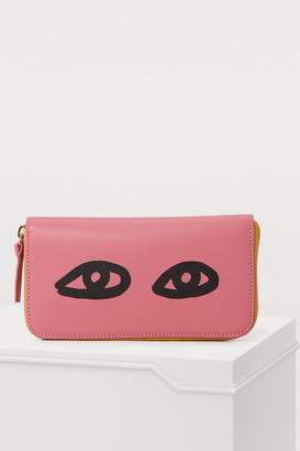Clare Vivier Leather eyes wallet