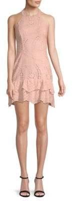 Parker Eyelet Halter Dress