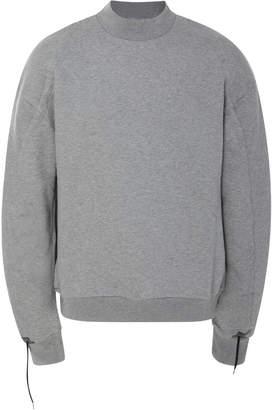 Oamc Drawstring Cotton-Jersey Crewneck Sweatshirt