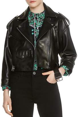 Maje Bummer Cropped Motorcycle Jacket