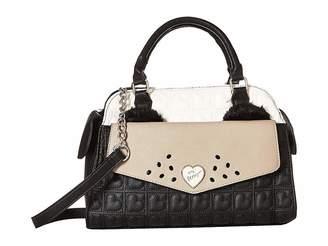 Betsey Johnson Kitsch Face Satchel Satchel Handbags