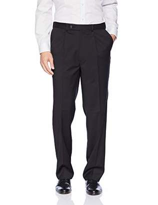 Kenneth Cole Men's Pleated Stretch Dress Pants