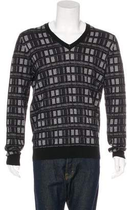 Louis Vuitton Cashmere-Blend V-Neck Sweater