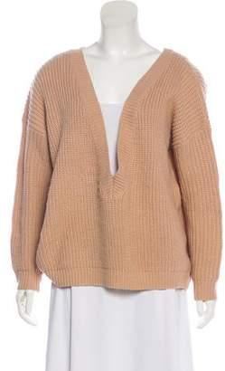 Cushnie et Ochs V-Neck Long Sleeve Sweater w/ Tags