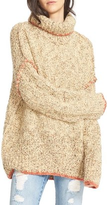 Women's Free People Echo Turtleneck Pullover $168 thestylecure.com