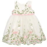 2f82ab87bc0da Popatu Floral Embroidered Tulle Fit & Flare Dress