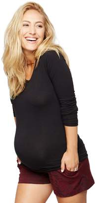 A Pea in the Pod Secret Fit Belly Jacquard Maternity Shorts