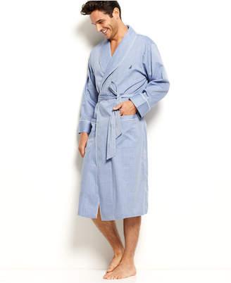 Nautica Herringbone Woven Shawl Collar Robe