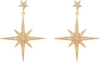 Latelita London - Star Burst Drop Earring Gold