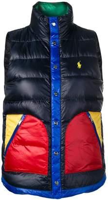 Polo Ralph Lauren contrast pocket padded gilet
