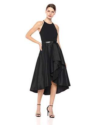 Eliza J Women's Halter High Low Belted Dress