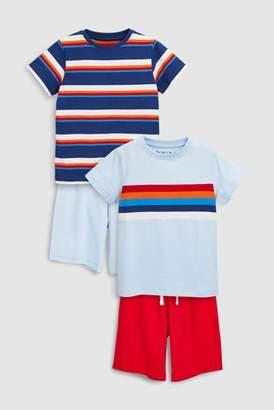 Next Boys Multi Stripe Pyjamas Two Pack (3-16yrs)