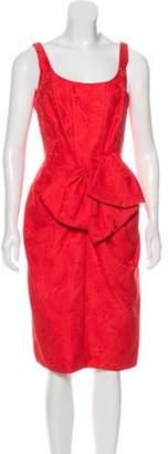 Carmen Marc Valvo Jacquard Midi Dress Jacquard Midi Dress