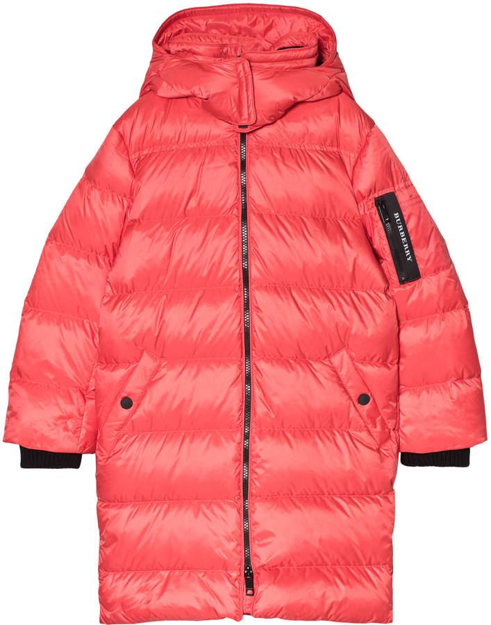 Burberry Red Briton Down Puffer Coat