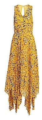 Derek Lam 10 Crosby Women's Sleeveless Animal Print Pleated Dress