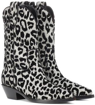 Dolce & Gabbana Leopard cowboy boots
