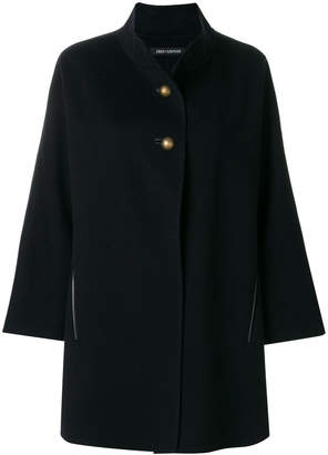 Iris von Arnim buttoned neck cape