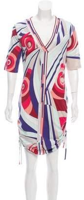 Emilio Pucci Short Sleeve Printed Mini Dress