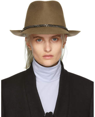 Stella McCartney Tan Wool Felt Falabella Fedora