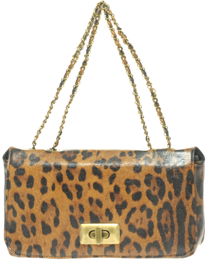 Oasis Roxy Leopard Chain Across Body Bag