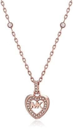Michael Kors Womens -Tone Heart Pendant Necklace