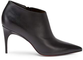 Christian Louboutin Gorgona 85 Leather Point Toe Ankle Boots