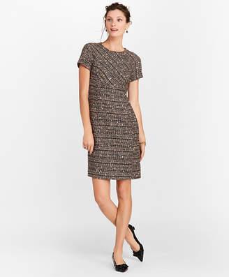 Brooks Brothers Petite Boucle Short-Sleeve Sheath Dress