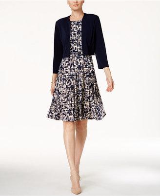 Jessica Howard Printed A-Line Dress and Bolero Jacket $99 thestylecure.com