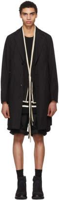 TAKAHIROMIYASHITA TheSoloist. Black New Chesterfield Coat