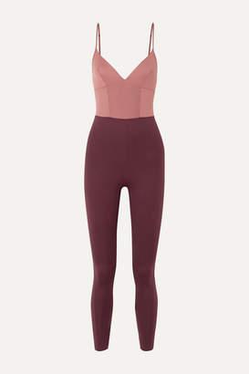 Ernest Leoty - Ilona Color-block Stretch-jersey Jumpsuit - Purple