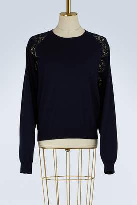 Chloé Wool and lace sweater